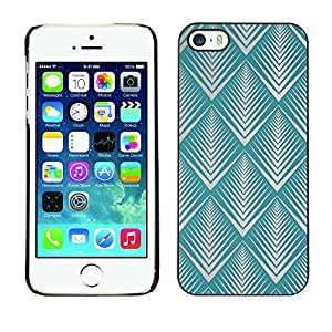 Omega Covers - Snap on Hard Back Case Cover Shell FOR Apple iPhone 5 / 5S - Art Deco Wallpaper Beige Vintage