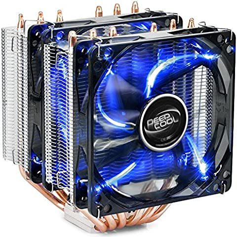 Para Intel AMD i5 i7 115x + 6 heatpipes de cobre AM3 Xagoo disipador de la CPU del ordenador 4 pines PWM LED de escritorio del ventilador del radiador (Estilo 2)