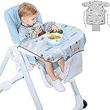 Dsaren Bavaglino Impermeabile Manica Lunga Bavaglino a Camicia Bavaglino Seggiolone per Bambina Bambini Bambino Neonato 6-36