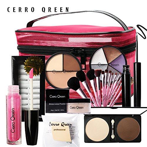 Coffret cadeau kit 13 pinceaux et palettes maquillage de Cerro qreen
