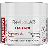 RevitaLAB Hyaluron Anti-Aging Day and Night Cream, Enriched with Retinol, Caviar and Red Grape for Ages 50 - 65, 50 ml