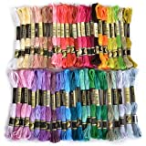 Embroidery Thread, 100% Cotton, 50 x Assorted Coloured Skeins by Flissy