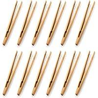 Lot de 12 pinces à toast en bambou