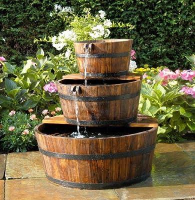 Ubbink AcquaArte Edinburgh Springbrunnen Set Holzfass von Ubbink - Du und dein Garten