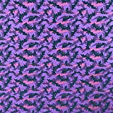 Halloween Fledermäuse violett Design 100% Korean Baumwolle