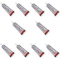 MMOBIEL 10x B-7000 15ml Super Glue Industrielle Toutes Surfaces, Transparente avec Embout de précision