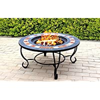 Centurion Supports Fireology DAKOTA Garden Heater/Fire Pit/Coffee Table, Barbecue/Ice Bucket - Slate Finish
