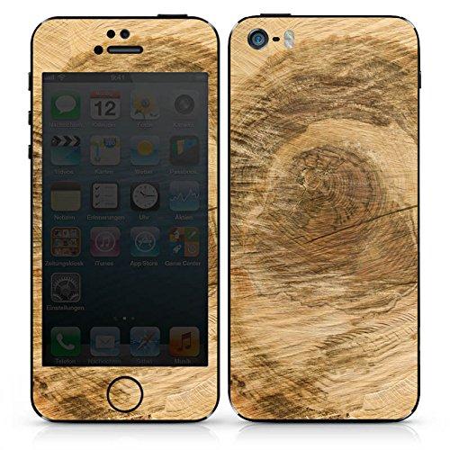 Apple iPhone SE Case Skin Sticker aus Vinyl-Folie Aufkleber Baumstamm Holz Look Baum DesignSkins® glänzend