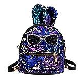 HCFKJ Tasche, Mode Mädchen Pailletten Umhängetasche Schüler Kinder Schultasche Reiserucksäcke (BU)