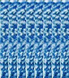 Arsvita Flausch-Vorhang, viele Variationen, Größe: 56x185 cm, Farbe: dunkelgrün-weiß