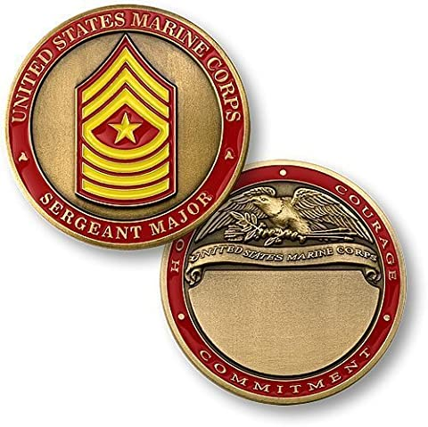 U.S. Marines Sergeant Major Engravable Challenge Coin by Northwest Territorial Mint