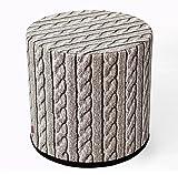 Design Pouf Sitzpuff Sitzhocker 40x40 Filz Bezug Mehrfarbig Aufdruck Motiv