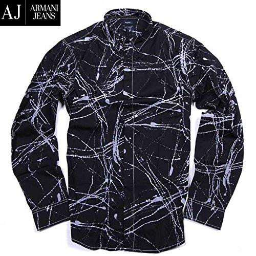 Armani Jeans Herren Freizeit-Hemd Weiß Weiß Weiß - Schwarz