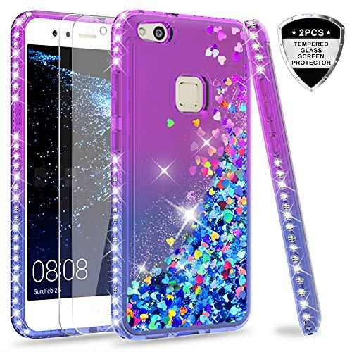 LeYi Custodia Huawei P10 Lite Glitter Cover con Vetro Temperato [2 ...