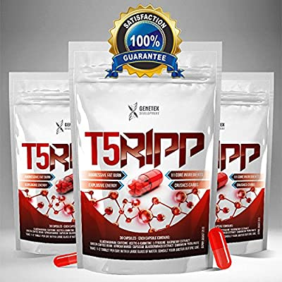 T5 Ripp Fat Burners CAPSULES Chromium Carb Blockers, Extreme Weight Loss Pills, Slimming Tablets from Genetex Developments Ltd