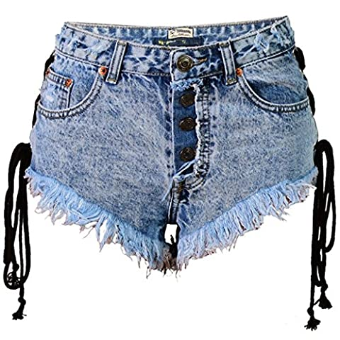 Wgwioo Sexy Mini Shorts Jeans Pantalons Chauds Denim Low Waist Night Club Pocket Pure Color Stretch Loisirs . Picture Color . 36