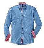 OLYMP Hemd Trachtenhemd Casual Modern Fit Blau, Größe XL