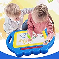 Samber Colorful Magnetic Drawing Board Erasable Writing Sketching Pad Plastic Cartoon Learning Painting Board Magic Pen Doodle Toy For Kids Children (D)