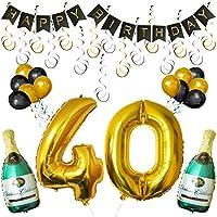 Set 40esimo Compleanno Decorazioni Palloncini Striscione da Kurtzy  Noi di Kurtzy, sappiamo quanto le decorazioni siano importanti per rendere una festa splendida. Questo è il motivo per cui questo set di palloncini e decorazioni è realizzat...