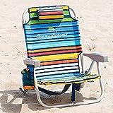 Tommy Bahama enfriador de mochila silla con bolsa de almacenamiento y toallero de barra …