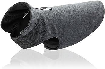 LA VIE Hundejacke Warme Polar Fleece Weste Ideale Schutz Winddicht Herbst und Winter Hundebekleidung für Kleine Mittlere und Große Hunde XS/S/M/L Rot/Gelb/Blau/Grün/Grau/Kaffee