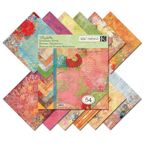 K Und Unternehmen Papier (K & Company Que Sera Sera Designer 12-by-12-inch Papier Pad)