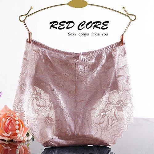 RRRRZ* Weiche Spitze in der Taille Hosen, sexy Unterwäsche Ecke 3 Weibliche lichtdurchlässige optische Versuchung zu widerstehen, die üblichen zongzi ,XL, bh (Dame Zurück Baby Alte Kostüm)