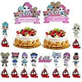 KRUCE 22 Pezzi LOL Cake Topper, LOL Happy Birthday Party Supplies Cupcake Topper per Bambini Decor