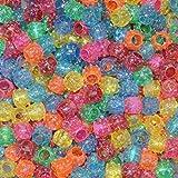 #9: Rainbow Plastic Beads Big Hole : 12 Mm : 100 Pcs Pack