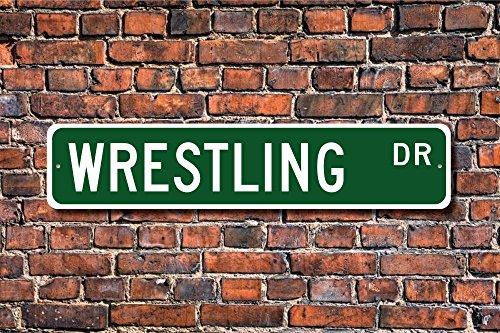 Stree Wrestling Schild Teilnehmer Wrestling Geschenk Wrestling Fan Combat Sport Metall Aluminium Schild, Dekoration