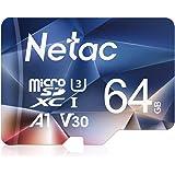 Netac Tarjeta de Memoria de 64GB, Tarjeta Memoria microSDXC(A1, U3, C10, V30, 4K, 667X) UHS-I Velocidad de Lectura hasta 100