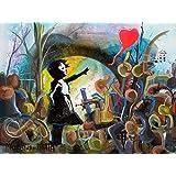 Mädchen Und Welt Banksy Tribut