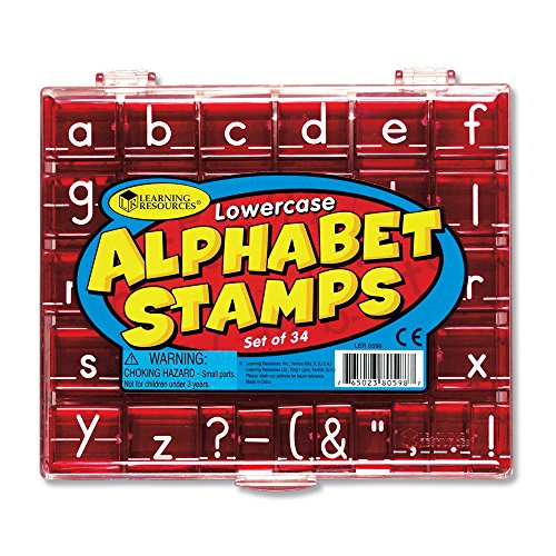 Learning Resources LER0598 Alphabet-Stempel Kleinbuchstaben
