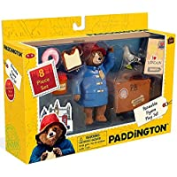 YOTTOY Paddington Bear Teddy Bear Paddington Movie Toys & Suitcase 8 Pc Set