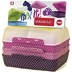 Emsa 517052 Variabolo Clipbox Set 4 Pezzi, Decorazione Girls, Plastica, Rosa, 16x11x7 cm