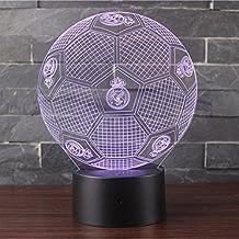 3D Lámpara de Escritorio Mesa 7 cambiar el color botón táctil de escritorio del USB LED lámpara de tabla ligera Decoración para el Hogar Decoración para ...