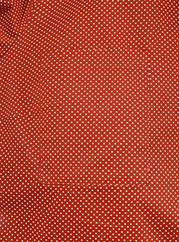 oodji Ultra Femme Chemise Basique avec Poches de Poitrine Rouge (4512D)