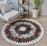 ZXH Runder Kuhfell-Teppich-Computer-Stuhl-Wohnzimmer-Haus-Persönlichkeits-Kreativitäts-Wolldecke (größe : 120cm)