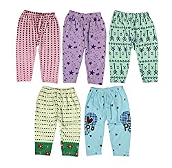 Guchu 100% Hosiery Cotton Baby Pyjama for Baby Boy, set of 5(F2-PJ-Bx5-60_Multi_60)
