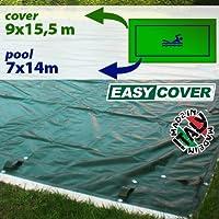 Telo di copertura invernale per piscina 7 x 14 mt predisposto per tubolari