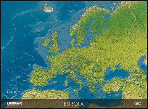 Columbus GEO physische Europakarte, Plano