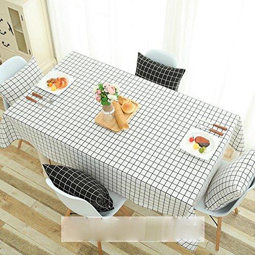 Européenne pastorale classique coton lin nappes à la maison tissu imperméable à l'eau de table en tissu Blanc treillis couverture serviette pour réfrigérateur armoire TV et table de chevet , 120*160cm