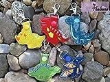 5er Set Schlüsselanhänger Dinos Dinosaurier Anhänger für Kindergartentasche Schulranzen Adventskalender