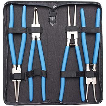BGS 651 Jeu de pinces à circlips, Argent/bleu/noir, 300mm, Set de 4 Pièces