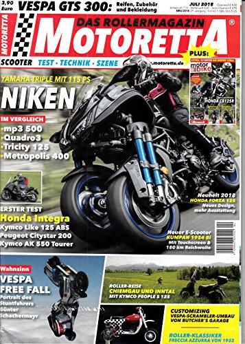 Motoretta 7 2018 Niken Honda Integra Vespa Zeitschrift Magazin Einzelheft Heft Scooter Test Technik Szene