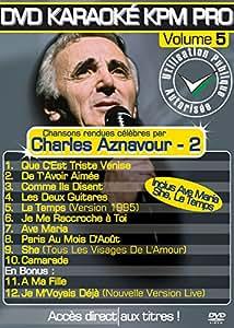 DVD KARAOKE KPM PRO VOL.05 - Charles Aznavour vol. 02