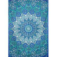 kesrie Star Blu Mandala Arazzo da parete Hippie Boho Home