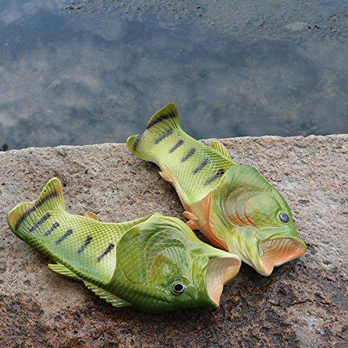 Oasap Herren Damen Besondere Fisch Strand Slippers Flip Flops Anti-Rutsch Hausschuhe - 3
