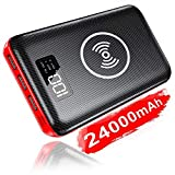 KEDRON Power Bank 24000mAh con 2 Entrada y 3 Salida USB, Cargador Móvil Portátil Batería Externa para Smartphones, Tablets y más (inalámbrico Power Bank)
