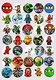 Kuchendekoration Ninjago, essbares Reispapier, 3,8cm, 30 Stück, Bild m2